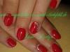 UV Lackirung, rot, mit Strasstein Nailart